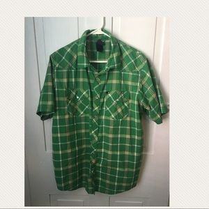 Men's North Face plaid shirt